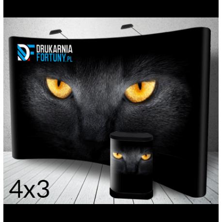 Ścianka Popup 4x3m DrukarniaFortuny.pl