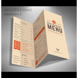Karty menu składane DrukarniaFortuny.pl